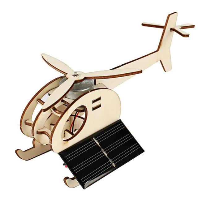 DIY Mini Solar Plane Assembled Toy Kids Handmade Science Experiment Interesting Invention Educational Toy Plane for Kids Gift 3