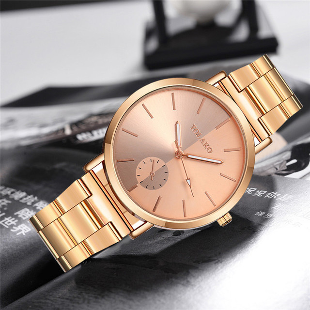 YOLAKO Fashion Quartz Watch Women Watches Ladies Girls Famous Brand Wrist Watch Female Clock Stainless Steel Relogio Feminino