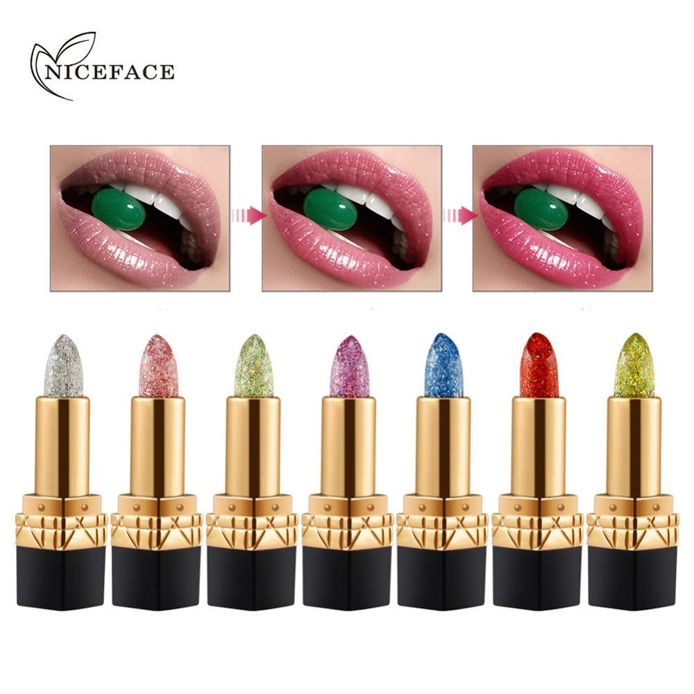$0.99 - Waterproof Metallic Glitter Lipstick Lip Gloss