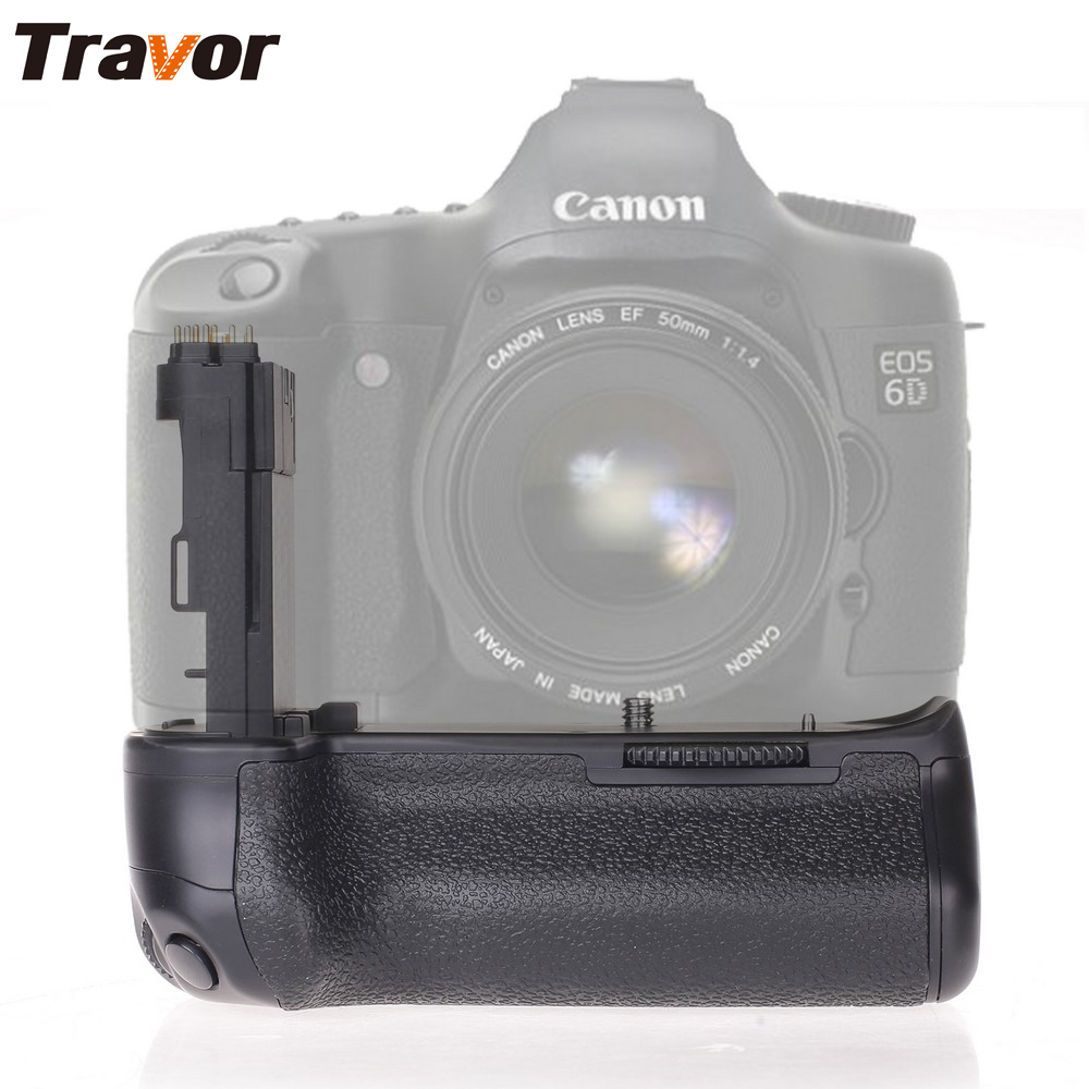 Travor Vertical Battery Grip Holder For Canon 6D DSLR Camera replacement BG-E13 work with LP-E6 battery