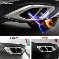Tonlinker Cover case Stickers For LEXUS 2016 RX200t car styling 2 pcs stainless steel upgrade double variable 2 4 Tail throat
