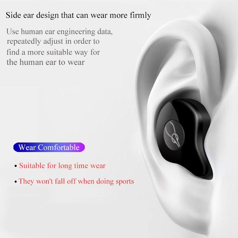 Professionnel Jumeaux Mini 3D Son Stéréo écouteurs bluetooth Invisible Vrai Sans Fil Étanche écouteurs de sport avec batterie externe - 5