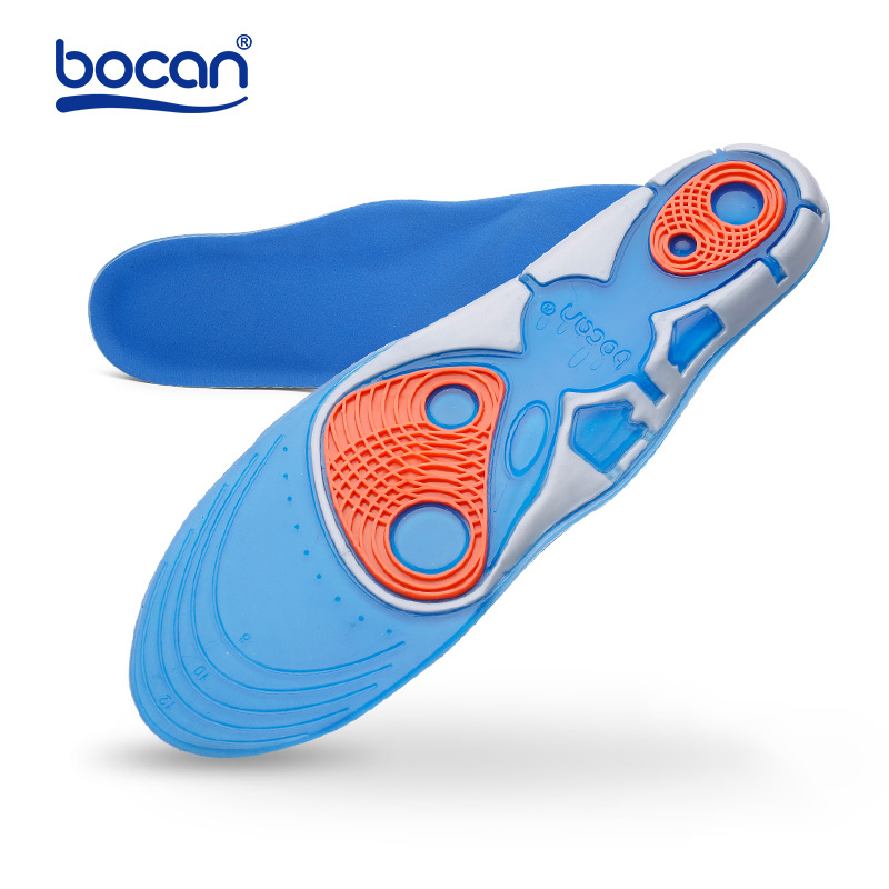 Bocan High Quality Gel Insoles Orthopedic For Foot Gel Insoles Foot Care For Plantar Fasciitis Heel Spur Running Sport Insoles