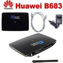 цена на Unlocked Huawei B683 3G 4g wireless router 3g wifi dongle 3g WCDMA cpe car router with usb port pk b681 b660 e5172 b970 b880