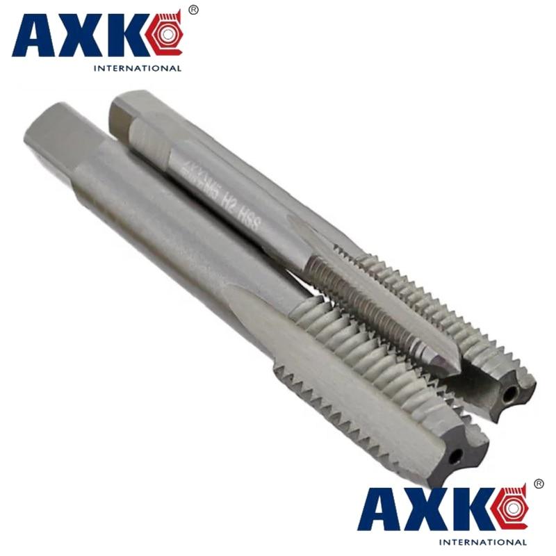1pc HSS Machine 3//8-27 UNS Plug Tap and 1pc 3//8-27 UNS Die Threading Tool
