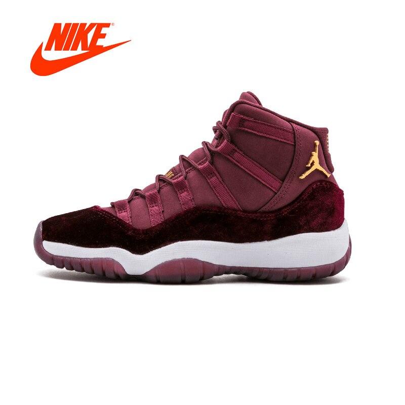 Original Nouvelle Arrivée Authentique NIKE Air Jordan 11 Rétro RL GG Velours Mens Basketball Chaussures Sneakers Sport En Plein Air