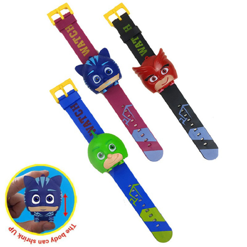 PJ Cartoon Maskd Children Party Watch Toy Cartoon Anime Connor Greg Amaya Catboy Cosplay Montre-bracelet Jouet Birthday Toy Gift les enfants pj racing mission cruiser car dessin maskmm toy anime pj car big truck display jouet children bithday gift toys
