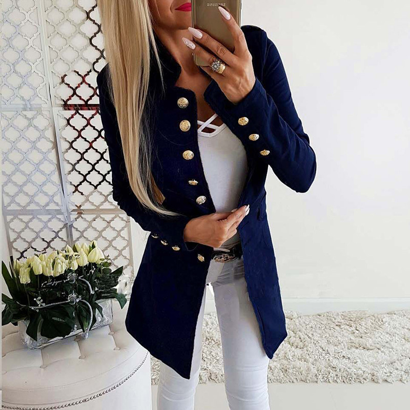Ladies Blazer Woman 2019 Work Wear Button Slim Long Suit Jacket Office Lady Women Blazers And Jackets Female Blazer Femme