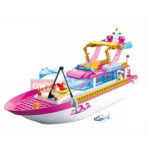 Image 2 - New City Girl Friends Big Garden Villa Model Building Blocks Brick Technic Playmobil Toys For Children Gifts