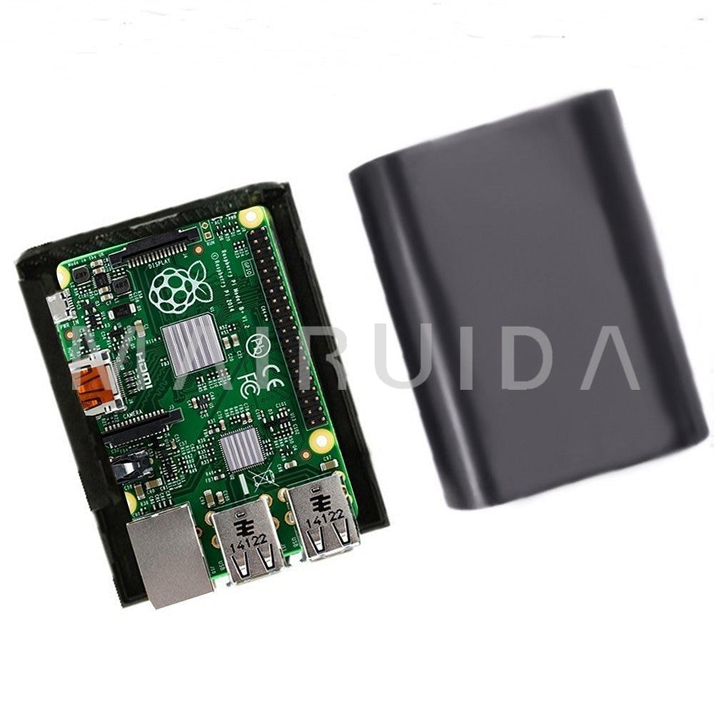 Black Case Enclosure Box Shell for Raspberry Pi B 2 3 Ultra Sleek Low Profile