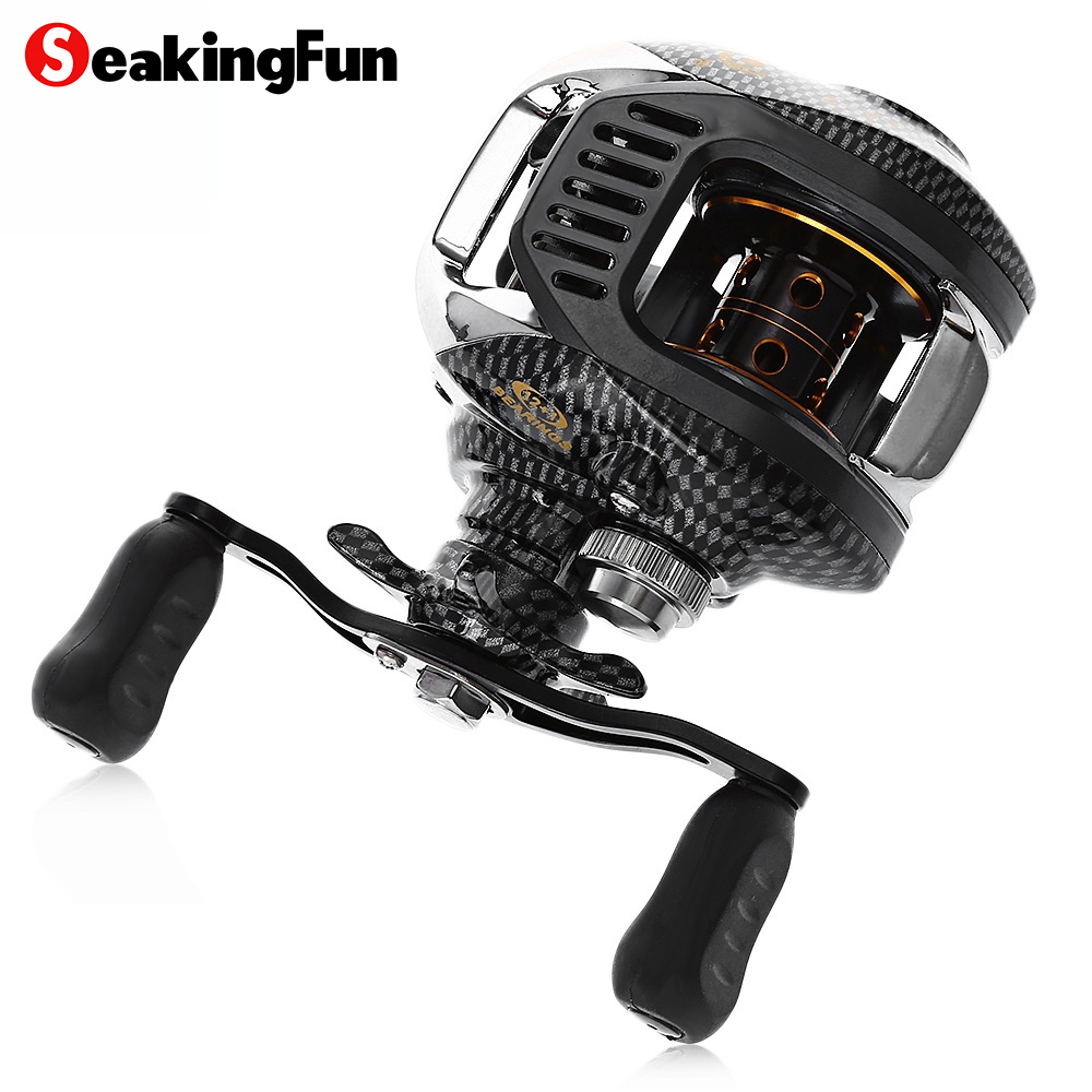 SeaKingFun Baitcasting Fishing Reel 12+1BB 6.3:1 High Speed Magnetic Brake & Centrifugal Brake Fishing Coil Reel Wheel De Pesca nunatak original 2017 baitcasting fishing reel t3 mx 1016sh 5 0kg 6 1bb 7 1 1 right hand casting fishing reels saltwater wheel