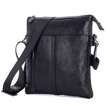 J.M.D Real Cow Leather Vintage Men's Messenger Bag Black Sling Bag For Men Confortable Messenger Flap Bag 1023A недорого