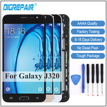 For Samsung Galaxy J3 2016 Display J320F J320FN J320M LCD Display Digitizer Touch Screen+Frame J320F LCD For Samsung Display J3(China)