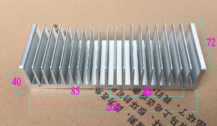 цена на 200X72X40mm Professional power amplifier heat sink Metal wire drawing Radiator 200*72*40mm Aluminum Heatsink