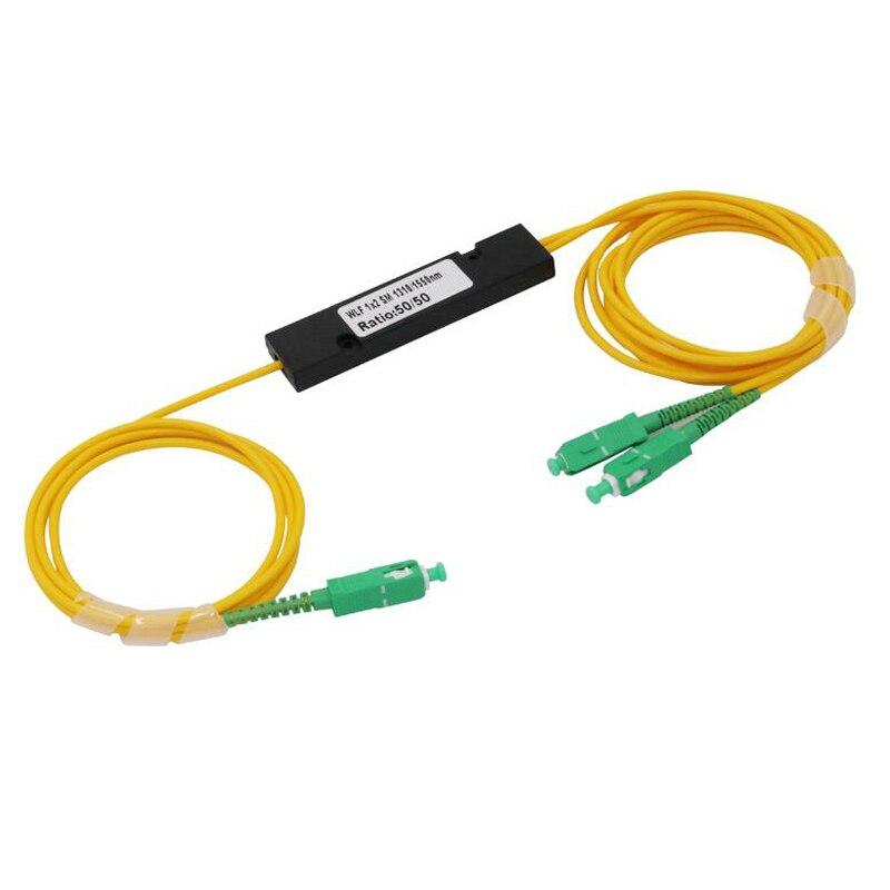 bilder für SC APC MINI PLC 1X2 singlemode LC fiber optic splitter 1x2 SC Apc plc splitter/1x2 plc Fiber splitter FBT Optische Paar