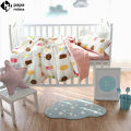 Papa&Mima Ice Cream pattern Crib Set 3/4pcs cotton linens bedding set for babies/toddlers/kids duvet cover set coverlet cushion