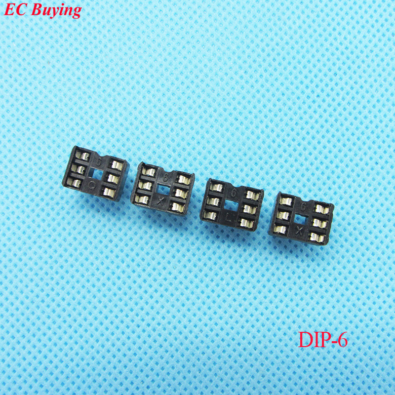 80pcs/ lot DIP IC Sockets Adapter Holder Type 6P Plug in (If you need other quantity, please contact our custom servicer)
