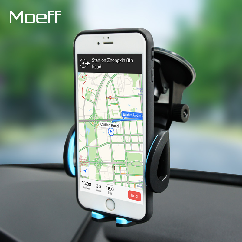 Moeff Universal Mobile Car Phone Holder Stand Cell Mount Holder For Phone In Car For Iphone 7 Plus Support Smartphone Voiture