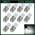 10 PCS Branco T10 194 168 W5W 1210 10 Lâmpadas LED Para Luzes de Substituição carro Wedge Instrumento Lâmpada de Leitura Da Placa de Licença Lâmpada