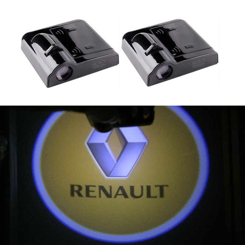 Car Door Light Projecto Logo LED For Renault Logan Megane Safrane Sandero Laguna Koleos Kangoo Express Euro Clio Duster Fluence