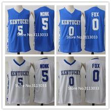 Malik Monk  5 De Aaron Fox  0 Kentucky Wildcats College Basketball Jersey  Embroidery Stitched S-XXL 892bf1093