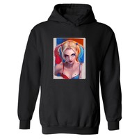 Punk Harley Quinn Suicide Squad Print Mens Hoodies And Sweatshirts In White Autumn Hooded Sweatshirt Punk Fashion Clothes 4XL