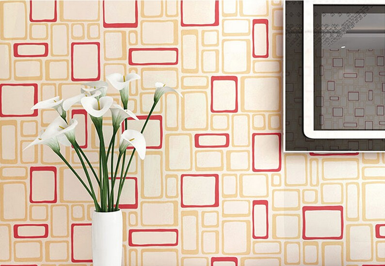 Modern Wallpaper Walls For Living Room Simple Red Plaid Wallpaper Design Non Woven Wallpaper Home Decor Wallpaper Wall Art Wall E Wallpaperwall Security Aliexpress