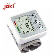 JZIKI Digital wrist bp Blood Pressure Monitors meters tonometer pulsometro sphygmomanometer cuff health care monitors for heart
