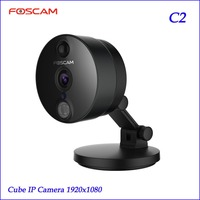 2018 FOSCAM C2 HD 1080 p WiFi cámara de seguridad IP con ios/Android App visión nocturna detección de movimiento PIR negro