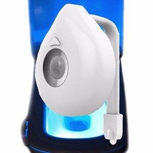Image 5 - 16 Colors Toilet Night Light Smart PIR Body Motion Sensor LED Toilet Seat Lamp Motion Activated Toilet bathroom Bowl Night lamp