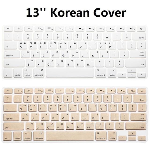 1pcs US KR Korean Keyboard Cover For Macbook Air Pro