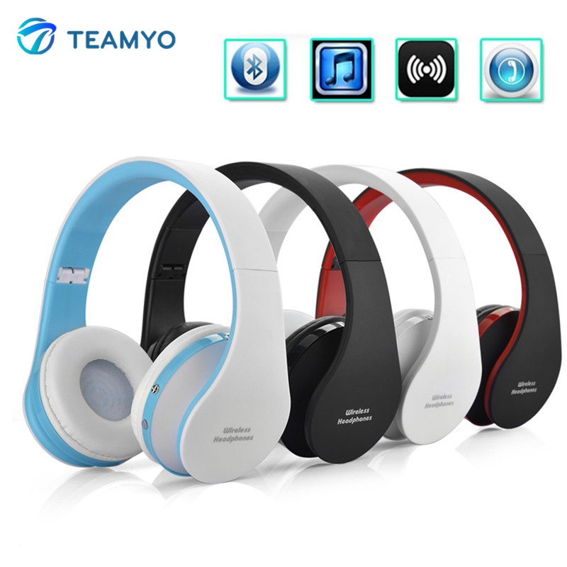 где купить  Teamyo NX-8252 Foldable Stereo Bluetooth Headphones Wireless Sport Headset Earphone With Microphone Volume Control Music Player  дешево