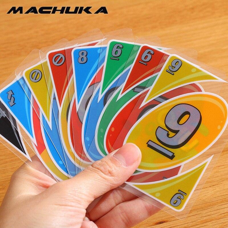 Machuka UNO пластиковые карты Игры покер Семья весело Водонепроницаемый покер карты версия игры раза игральных карт Развлечения Настольная игр...