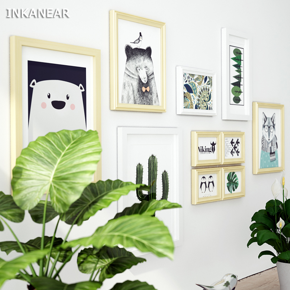Modern Living Room Solid Wood Picture Frames Cartoon Fashion ...