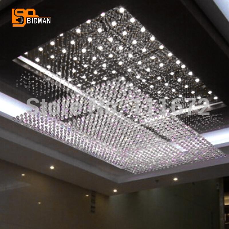 new hotel project modern crystal chandelier LED luminare lustres de cristal lighting fixture
