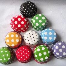Прямая 50x черный, красный, зеленый, белый, синий, фиолетовый бумажный чехол в горошек для свадебного кекса
