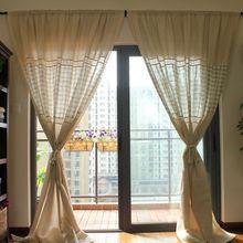 ( Single Panel ) Punching Window Curtains Mediterranean Bedroom Balcony Castle City European Style Blackout Custom