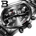 Suíça Binger dos homens Dos Esportes Da Forma Militar Relógios Dos Homens do Cronógrafo de Quartzo relógios de Pulso À Prova D' Água Relogio masculino