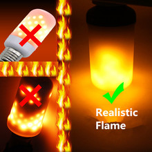ETONTECK Фирменная Новинка светодио дный пламя лампы E27 E26 огонь эффект пламени лампы 9 Вт мерцающего эмуляции для домашнего декора Рождество Творческий свет