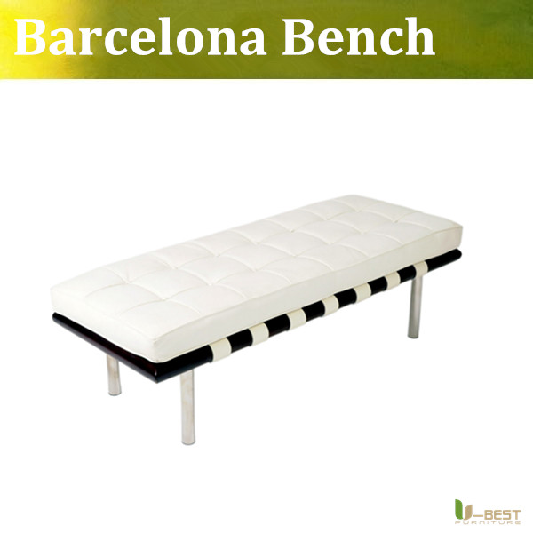 U-BEST high quality Ludwig Mies van der Rohe Barcelona Bench,designer bench in genuine leather van der graaf generator van der graaf generator live in concert at metropolis studios london 2 cd dvd