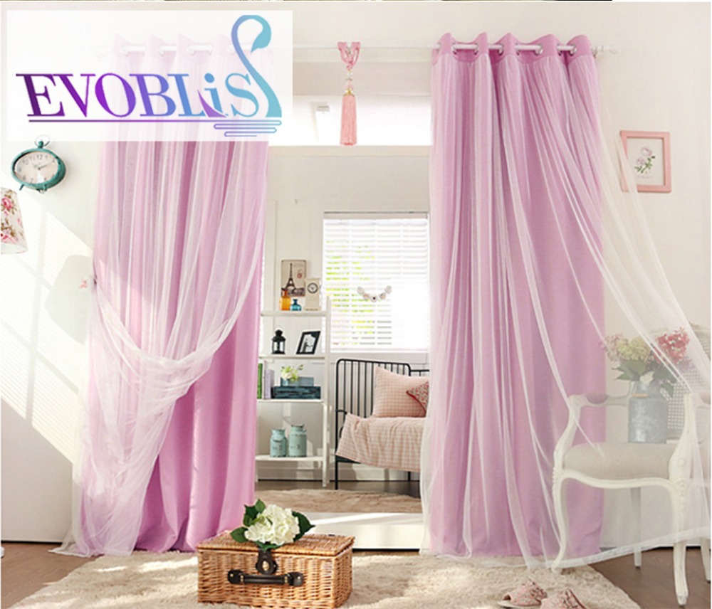 Korean Countryside Curtains For Living Room Rideaux Pour