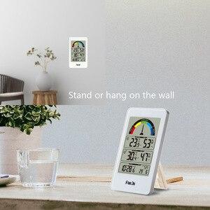 Image 3 - Digitale Thermometer Hygrometer Wandklok Draadloze Sensor Indoor Outdoor Temperatuur Weerstation Comfort Indicatie
