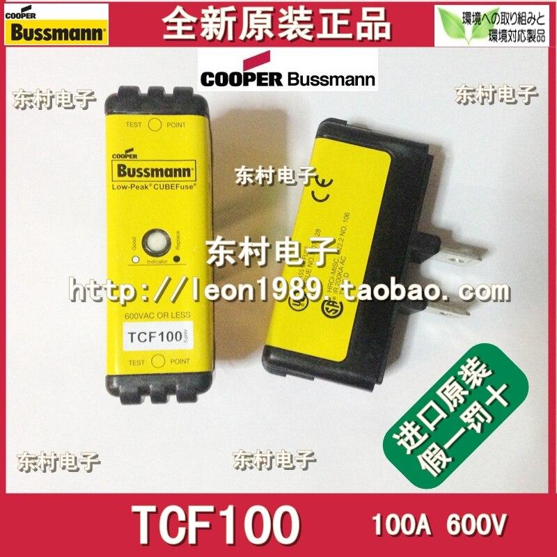 лучшая цена [SA]Original Bussmann Fuses Low-peak fuses TCF100 TCF100RN 100A 600V