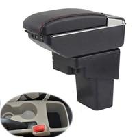Armrest Box For Hyundai Solaris Verna Grand Avega 2010 2016 Auto Seat Central Storage Box 7USB port With LED light Arm Rest Box