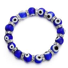 Ourania Fashion Couple Charm Bracelet Colorful Chakra Natural Beads Stone Lucky Energy Beaded Jewelry Gifts