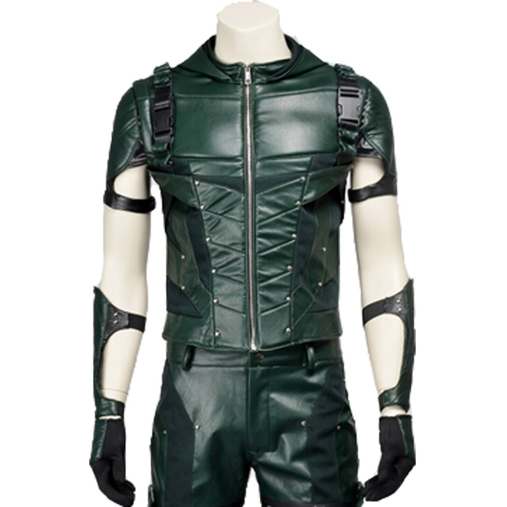 b1817bf659dccb MANLUYUNXIAO Men Green Arrow Cosplay Costume Oliver Queen Green Arrow Costume  Leather Battle Suit Christmas Costumes For Men-in Movie & TV costumes from  ...