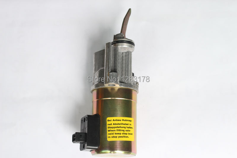 DEUTZ 1013 2012 Engine Fuel shutdown stop solenoid valve 12v / 24v 04199904 / 0419 9904 for deutz 1012 fuel shutdown solenoid valve 0419 9900 04199900 12v