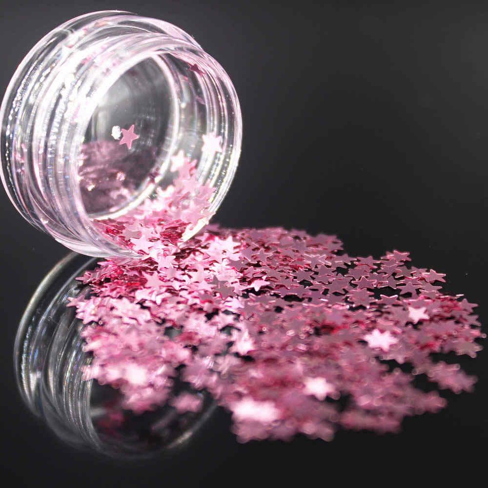 LOLEDE Darkgoldenrodสีเล็บเล็บเล็บArt Glitter Flakes UV Gel Starหัวใจดอกไม้Pailletteเครื่องมือตกแต่งดาว