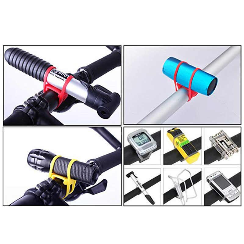MTB Radfahren Fahrrad Silikon Band-Licht Taschenlampe Telefon Strap Tie Band Halterung