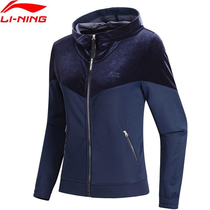 (Break Code)Li-Ning Women The Trend Hoodie Sweaters Regular Fit Velvet Jacket Li Ning LiNing Sports Hoodies AWDN836 WWJ938